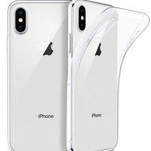 Funda Case Transparent Soft iPhone 11 Plus Ultra-Thin for X XS 8-7 6-5 Clear TPU Slim