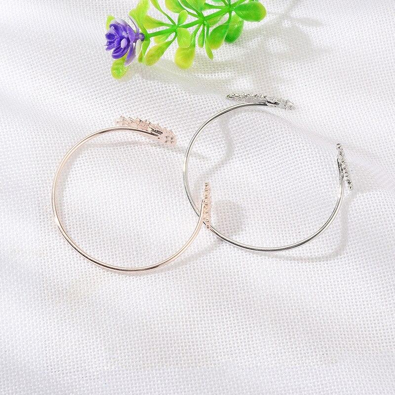 Angel Wings Bracelet Adjustable Woman Alloy Rhinestone Jewelry Gifts Open Bracelet Silver Plated Crystal