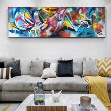 XINQI холст картины настенные картины маслом цветные абстрактные картины Домашний декор Печать на холсте для гостиной современный без рамки