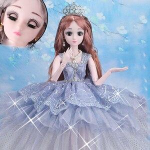 Модные куклы для девочек, 60 см, большая Оригинальная кукла ручной работы 1/3, полный комплект, 20 шарнирных кукол, игрушки для девочек, детские ...