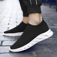 Lightweight Running Shoes Man Athletic Comfortable Summer Slip-on Loafers Shoes Men Socks Sneakers Breathable Mesh Sport Shoes new summer genuine leather slip on shoes men casual breathable mesh shoes men loafers mens sneakers casual loafers men footwear