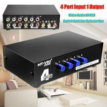 MT-431AV 4-Way AV Switch RCA Switcher 4 In 1 Out Composite Video L/R Audio Selector 4 Port AV Audio Video RCA 4 Input 1 Output автоусилитель audio system r series r 110 4 page 7