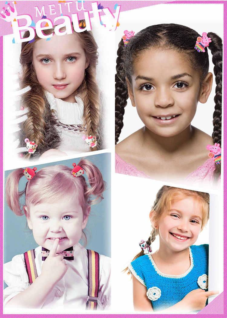 2 sztuk/para Bubble Guppies dziewczynek elastyczna opaska do włosów akcesoria do włosów dla kobiet gumowe opaski miękkie tkaniny nakrycia głowy Barrettes