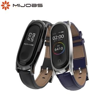NFC Global Correa Mi Band 5 Leather Strap For Xiaomi Mi Band 4 Bracelet Mi Band 4 Accessories Smart Watch Band Wrist Mi Band 3