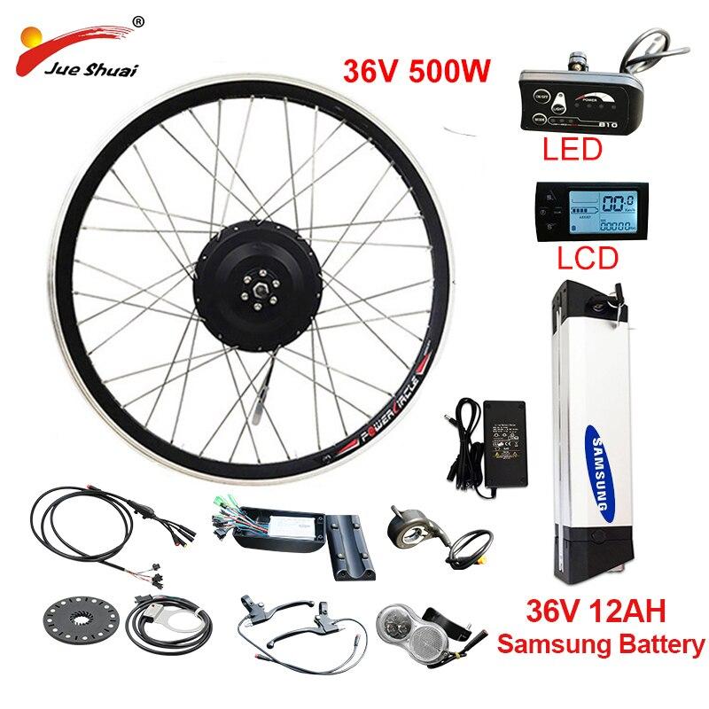 Ue RU hors taxes pas de taxe 36V 500W eBike Kit de Conversion 36V12AH Samsung batterie e vélo Kit de vélo électrique avant arrière moyeu moteur roue