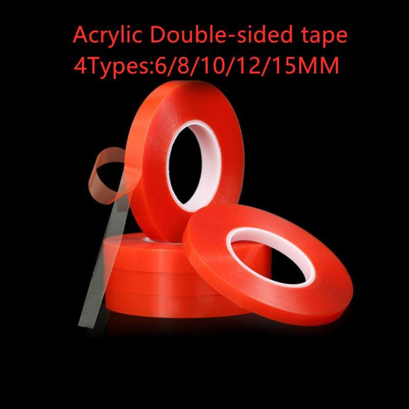Акриловая клейкая лента, Прозрачная силиконовая Двухсторонняя клейкая лента для автомобиля, высокопрочная клейкая лента без следов для до...