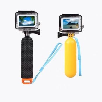 Floating Hand Grip Handle Mount Float accessories for Go Pro Floaty GoPro Hero 9 8 7 6  Yi 4K Eken SJCAM Osmo Action Camera handheld gimbal adapter switch mount plate for gopro 6 5 4 3 3 yi 4k camera for dji osmo for feiyu zhiyun smooth q gimbal