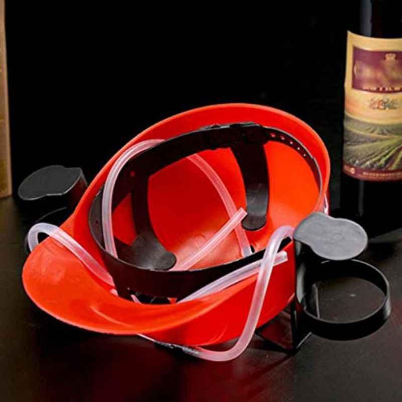 Titular do capacete da bebida do verão beber cerveja coque soda mineiro chapéu palha boné festa de aniversário legal original brinquedo suporte ajustável