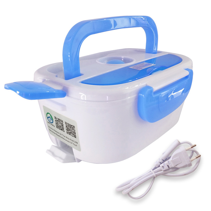 AHTOSKA 220V 12V Portable Electric Heating Lunch Box Food-Grade Food Container Food Warmer For Kids 4 Buckles Dinnerware Sets