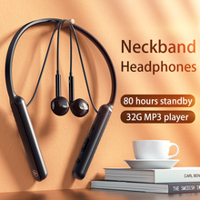 Neckband Headphones Wireless Bluetooth Headset 32G MP3 Music Player 80 Hours Standby With Mic Sports Earphone For Xiaomi Huawei
