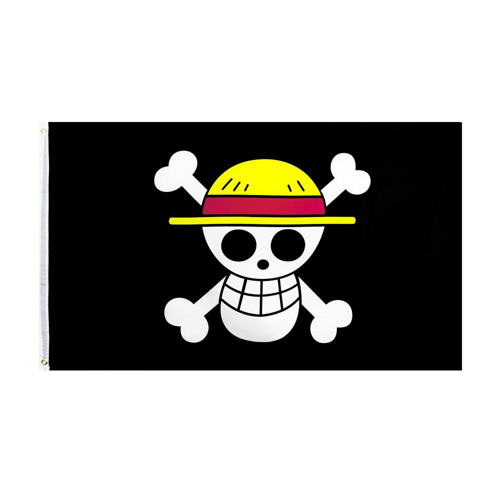 90*150CM  One Piece Monkey D. Luffy Skull Flag