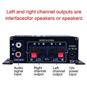 LED AMP Amplificador Home Theater USB TF Card Player 3