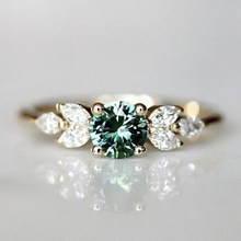 Vintage Rings For Women Emerald Diamond Ring Gold Bridal Wedding Fine Jewelry Accessories(China)