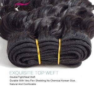 Image 4 - Tissage en lot Deep Wave brésilien Yyong, cheveux Remy, cheveux 3/4 naturels, avec Lace Frontal 13x4, peuvent être teints, en lot 100% naturel