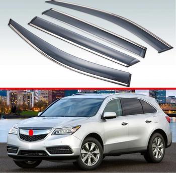Para Acura MDX (YD3) 2014-2019 Visor Exterior de plástico persianas de ventilación ventana sol lluvia Deflector 4 Uds