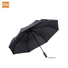 Зонт Xiaomi Mijia автоматический Солнечный дождливый алюминиевый ветрозащитный водонепроницаемый УФ для мужчин и женщин Лето Зима