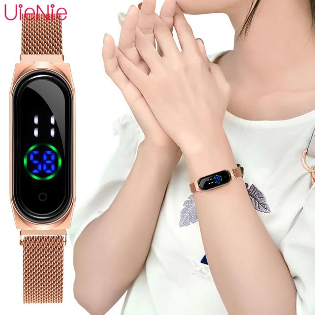 Luxury Ladies Watch Women Touch Screen LED Watches New Fashion Women Magnetic Electronic Clock Digital Wristwatches Feminino 1