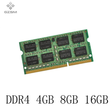 GZSM Laptop Memory DDR4 4GB 8GB 16GB Memory Cards 2133MHZ 2400MHZ 2666MHZ 3200MHZ Memory RAM for PC4 17000P 19200T 2666V 3200V цена 2017