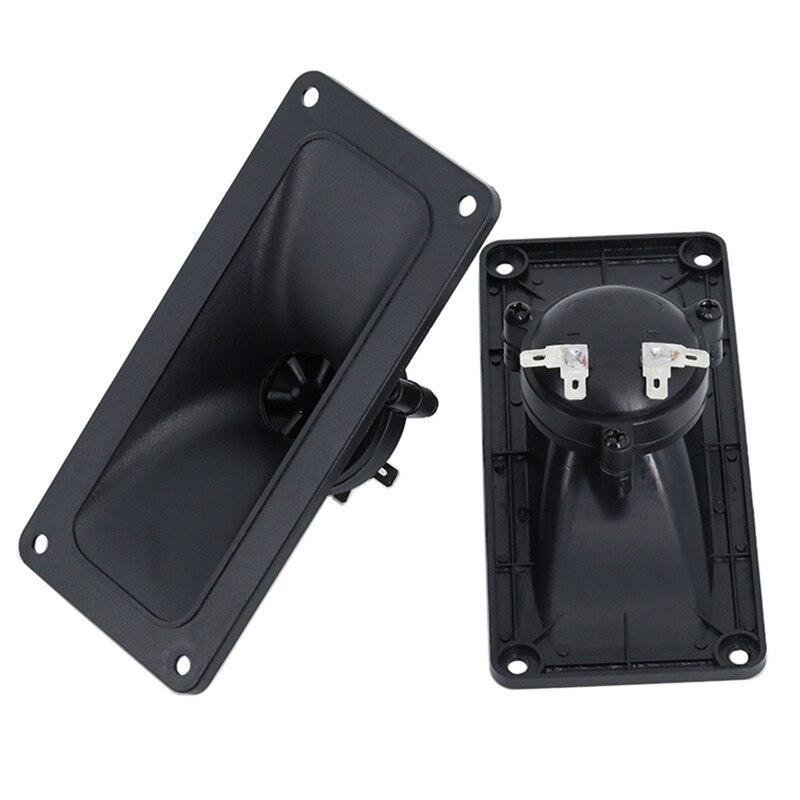 2Pcs Tweeters Speaker Piezoelectric Tweeter Loudspeaker 150W Ceramic Buzzer Treble Square DIY Audio Speakers