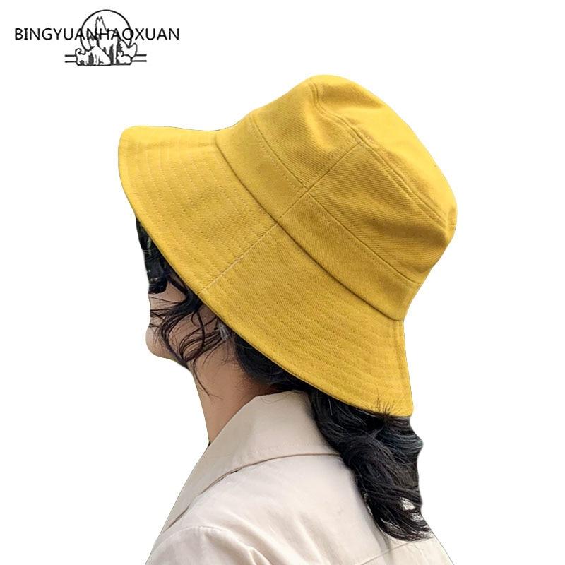 Blank Fisherman Hat Woman Outdoors Solid Color Sun Hat Beach Casual Bucket Hats Men Plain Panama Hat