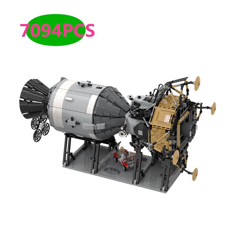 Compatible 26457 Apollo 11 Star Wars Saturn V Apollo Spacecraft Building Blocks Creative Series Birthday Gift Toys C271