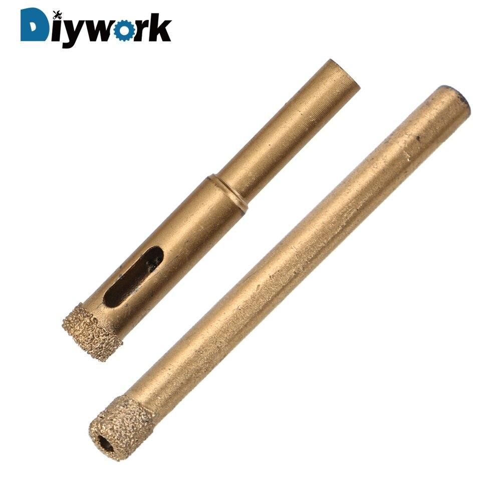 DIYWORK 6mm /10mm Glass Hole Pot Making Bits Hole Saw Glass Granite Cutter Opener Bits Diamond Coated Drill Accessories