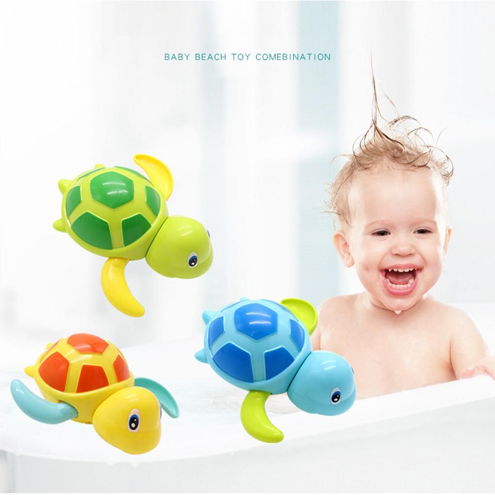 Children Bath Toys Cartoon Design Sealife Wind-up Boys Girls Showering Swimming Paddling Toys