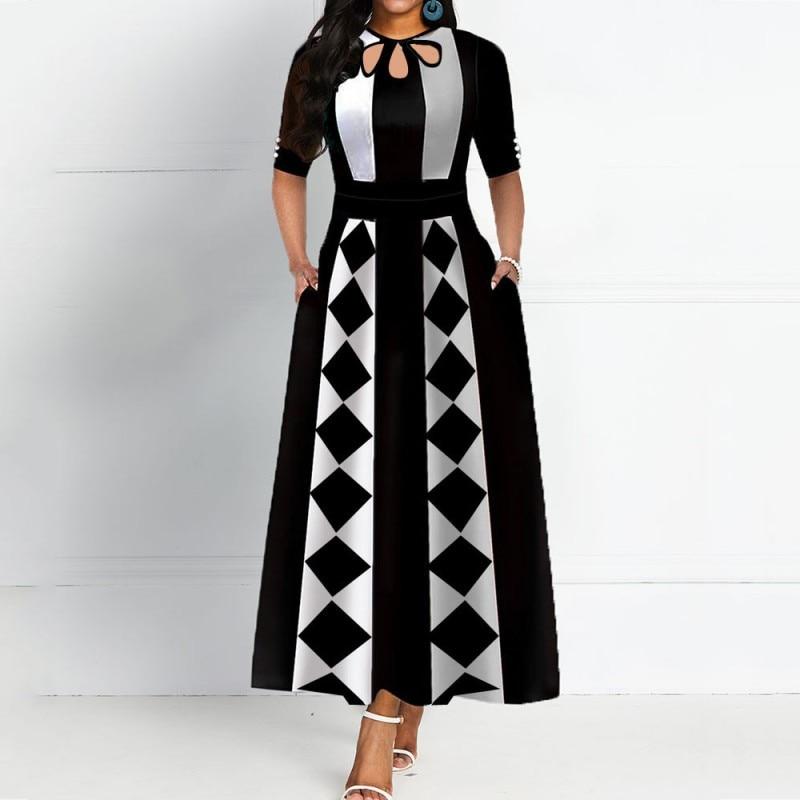 African Dresses For Women 2020 African Clothes Africa Dress Print Dashiki Ladies Clothing Ankara Plus Size Africa Women Dress
