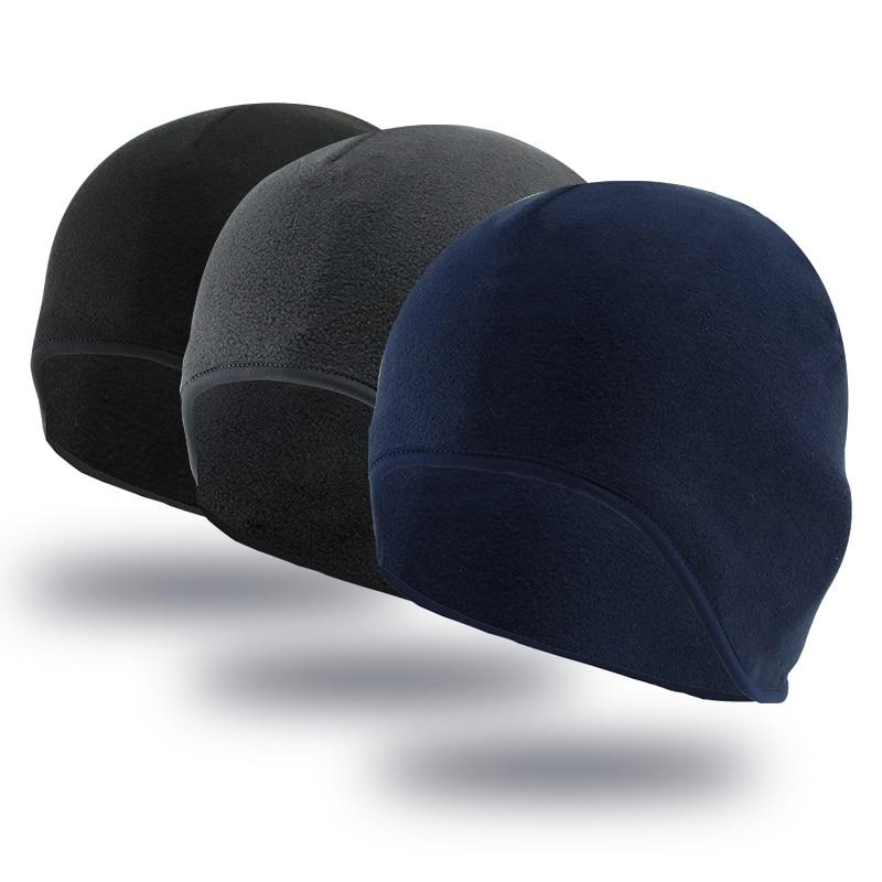 Stretch Fleece Beanie Hat Skater Ski Sports Cycling Winter Warm Beanie Skull Cap
