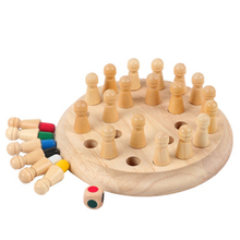Match Stick Chess-Game Memory Cognitive Wooden Training Educational-Color Baby Kids Children