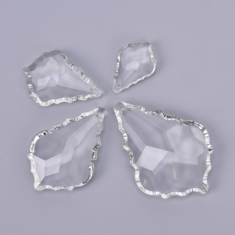 1pc Clear Chandelier Glass Crystals Lamp Prisms Parts Hanging Drops Pendants 38mm/50mm/63mm/76mm