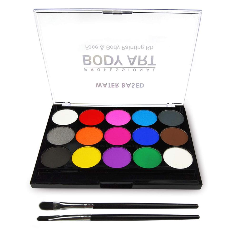 Face Paint Kit For Kids, Professional Quality Face & Body Paint, Hypoallergenic Safe & Non-Toxic, Easy To Painting And Washing,