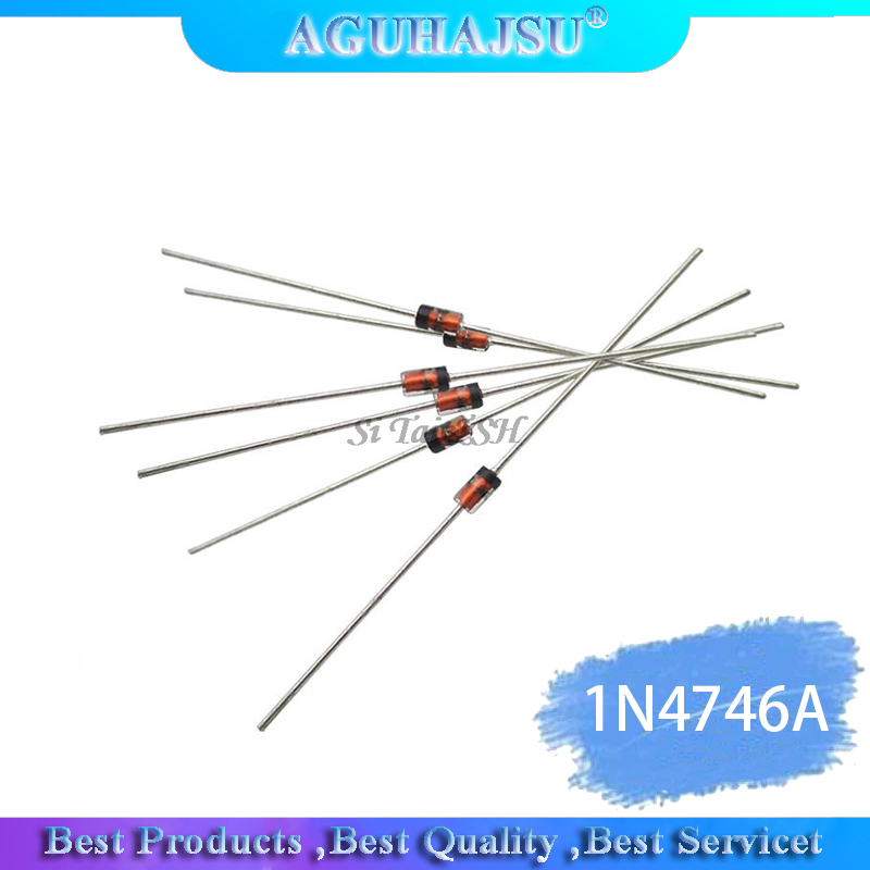 100PCS 1W 18V 1N4746A <font><b>1N4746</b></font> DO-41 diode image