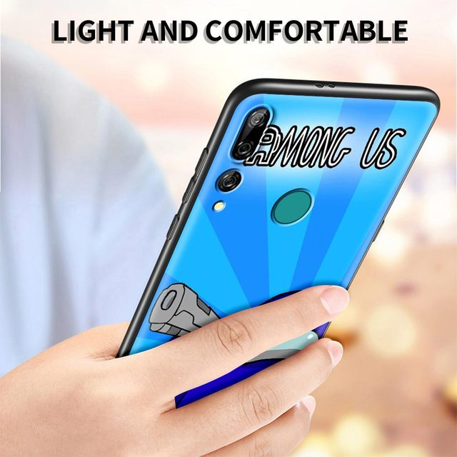 Among Us Top games of 2020 Luxury Phone Case for Huawei Y5 Y6 Y7 Y9 Prime 2019 Y9s Y5p Y6p Y7p Y8p Y6s Y9s Y9a TPU Black Cover