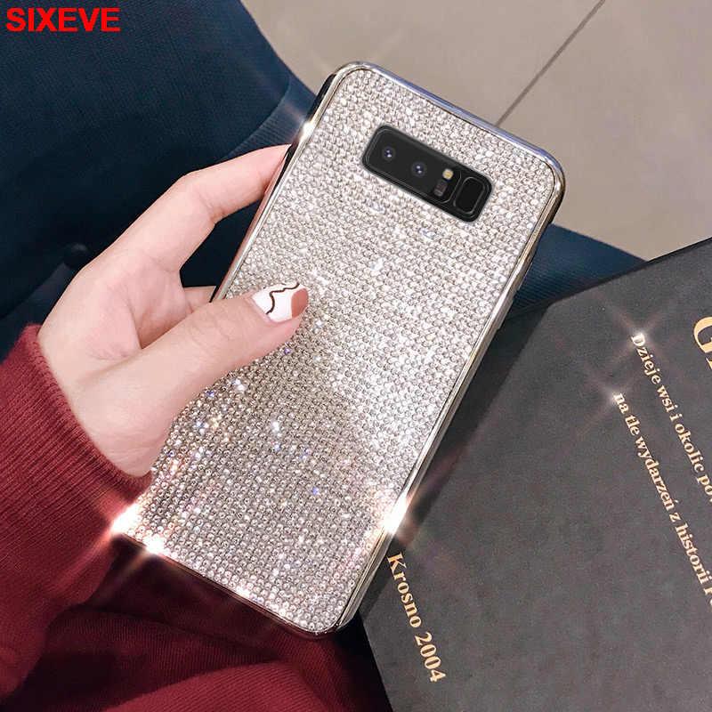 Sang Trọng Ốp Lưng Điện Thoại Samsung Galaxy S9 Plus Full Kim Cương Lấp Lánh Samsung S8 S10 Plus S7 Edge S10 Lite Edge s10E Ốp Lưng Silicon