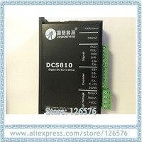 Lead shine DC Servo motor driver DCS810 working for 18 80VDC 20A Digitial DC Driver fit for Nema23 DC motor