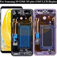 Digitalizador de tela touch screen para samsung s9, display original para montagem de samsung galaxy s9 g960f s9 plus g965 lcd lcd