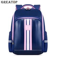 GREATOP Fashion Teenager Schoolbag Leather Waterproof Kids Backpack Boys Girls S