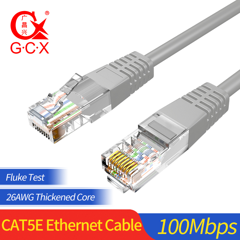 GCX High Speed 100Mbps UTP CAT5e Network Cable RJ45 Indoor Patch Cord Cat 5 5e  10m 20 M Lan Cable Ethernet CAT 5