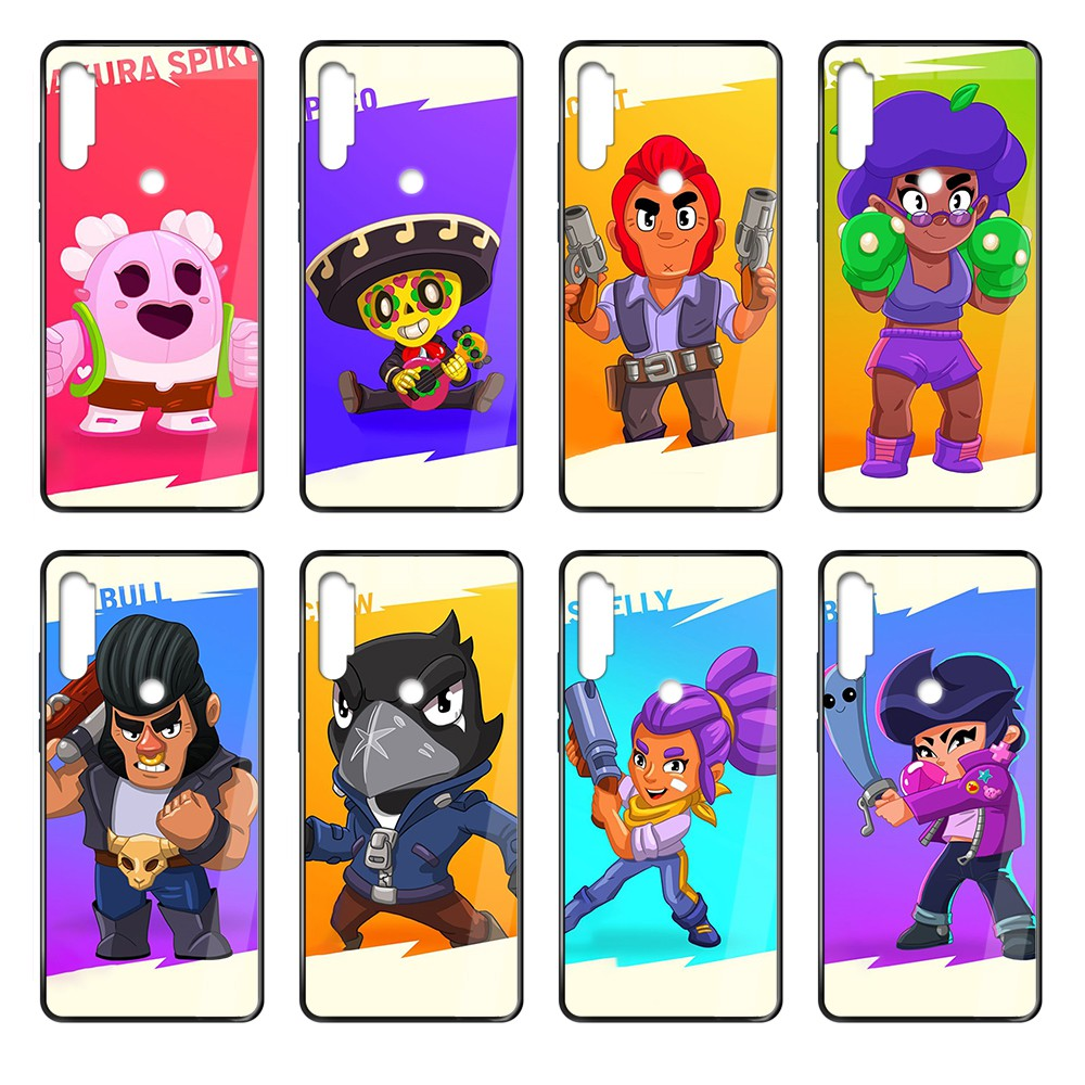 Cartoon Cute Gbrawl Stars Game luxury cover black Phone case cover hull For Xiaomi Redmi Note S2 3 4 5 6 7 8 K20 A S X Plus Pro image