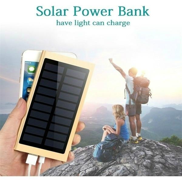 Solar Power Bank 30000mAh Portable Waterproof Battery Powerbank Fast Charging External Battery LED for All smartphones 2