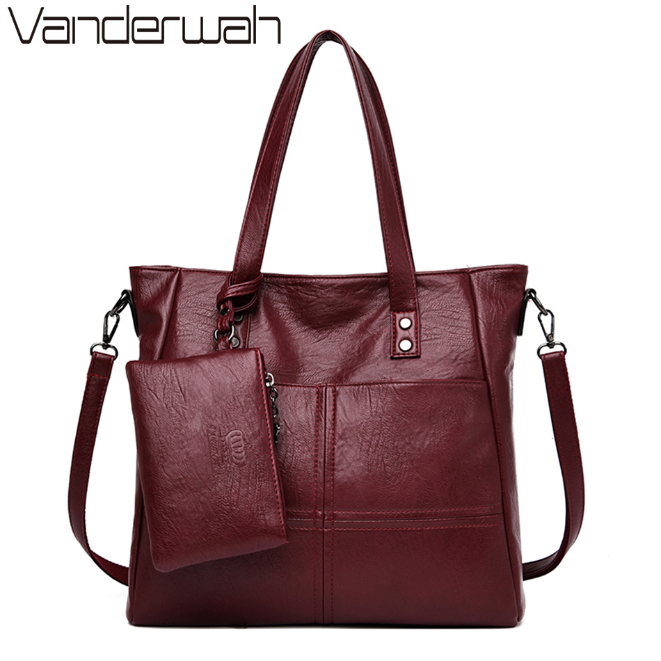 2 набора кожаных повседневных сумочек тоут и сумочек, роскошные сумки, женские сумки, дизайнерские женские сумки на плечо, ручные сумки для ж