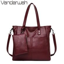2 Sets Leather Casual Tote Sac Purses And Handbags Luxury Handbags Women Bags De