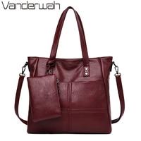 2 Sets Leather Casual Tote Sac Purses And Handbags Luxury Handbags Women Bags Designer Ladies Shoulder Hand Bags for Women Bolsa