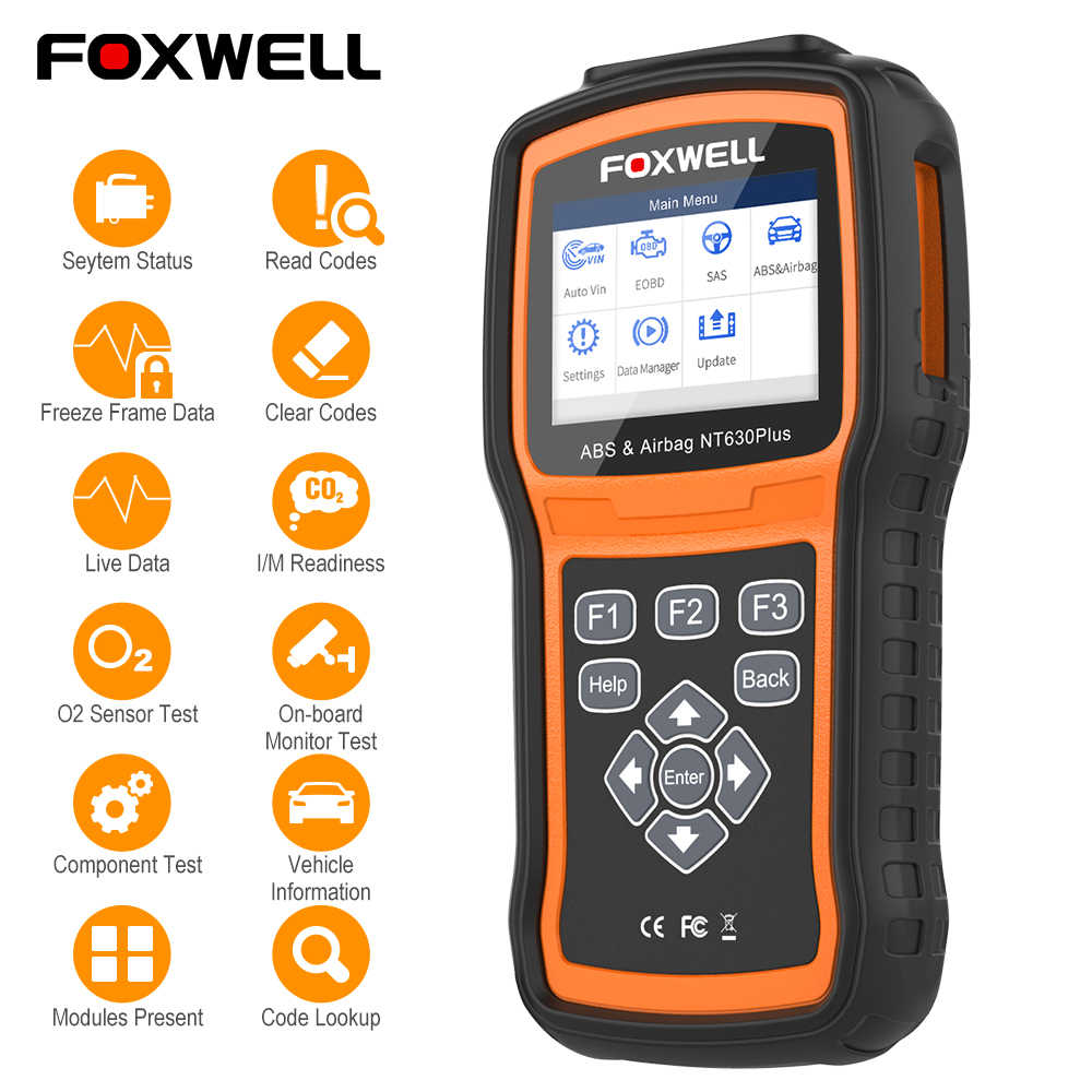 Foxwell NT630 Elite OBD2 Scanner Obd 2 Abs Airbag Srs Sas Crash Data Reset Auto ODB2 Auto Diagnostic Tool Obd automotive Scanner
