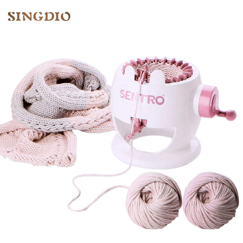 Girl Hand Woven Wool Knitting Crafts DIY Creation Wool Knitting Machine Looms Play Creative Toys For Girls Gift