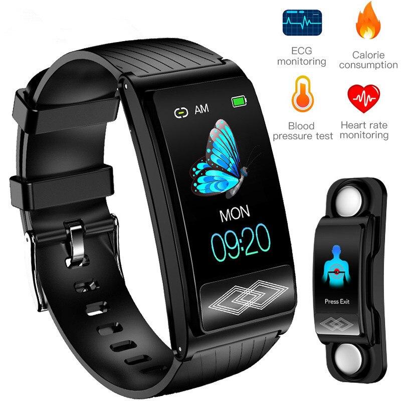 P10 deporte pulsera inteligente presión arterial frecuencia cardíaca y oxígeno Monitor ECG banda inteligente rastreador de actividad impermeable HRV índice saludable