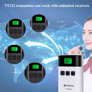 Image 3 - RETEKESS TT122 przewodnik wycieczek System bezprzewodowy 1 nadajnik + 10 odbiorników dla kościoła fabryka szkolenia przewodnik wycieczek spotkanie rządu
