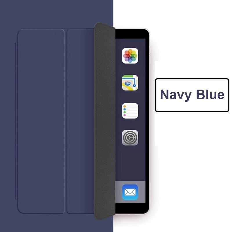 Navy Blue BLACK Funda iPad Pro 11 2021 case PU Leather Tri fold Case For iPad 11 Case Tablet