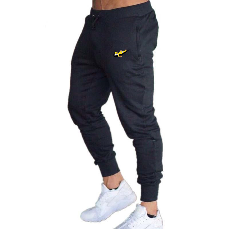 Fashion New Logo Men's Fitness Trousers Cotton Men's Sports And Fitness Pants Casual Sports Pants Jogging Pants Tight Trousers
